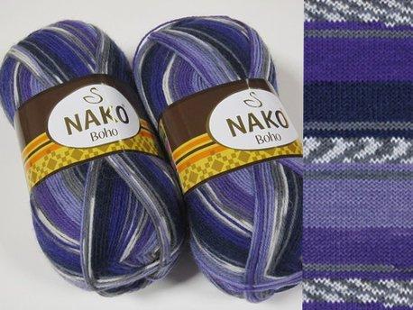 Nako - Boho Sock Yarn - 75% wool 25% polyamide