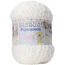 Bernat - Pipsqueak Yarn - Big Ball - White - 250 g