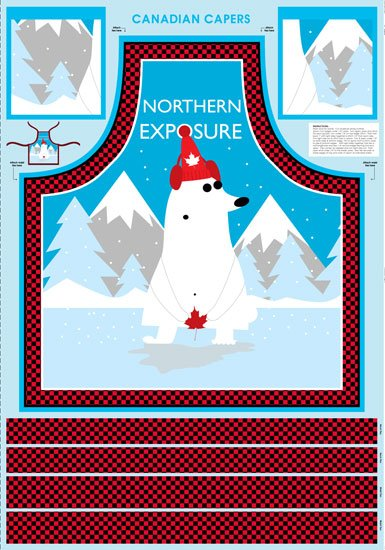 Canadian Capers Northern Exposure Apron Panel