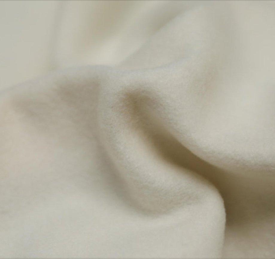 Duffle JR / Melton 150 cm Wide 80/ 20 White