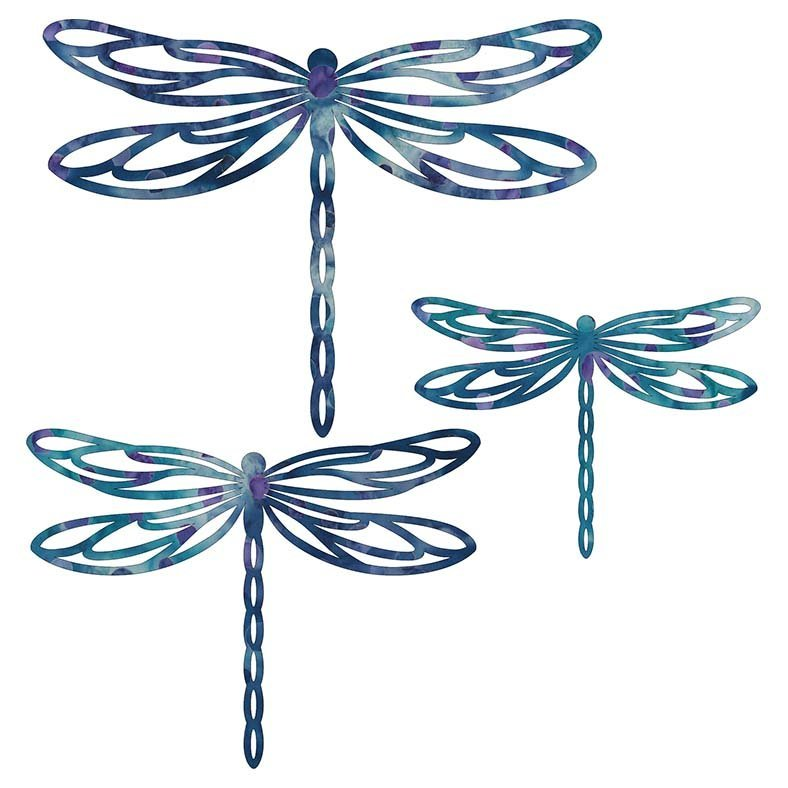 Dragonfly Laser Cuts  5 & 6.5 & 8 PK  Blue