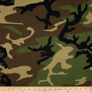 Camouflage Twill 58-60 Wide  Black / Green