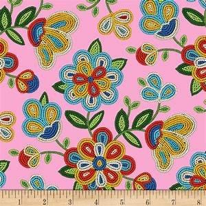 Elizabeth Studios - Tucson Pink Floral 100% Cotton 42-44 Wide