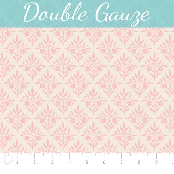 With Love - Double Gauze 100% Cotton - Pink