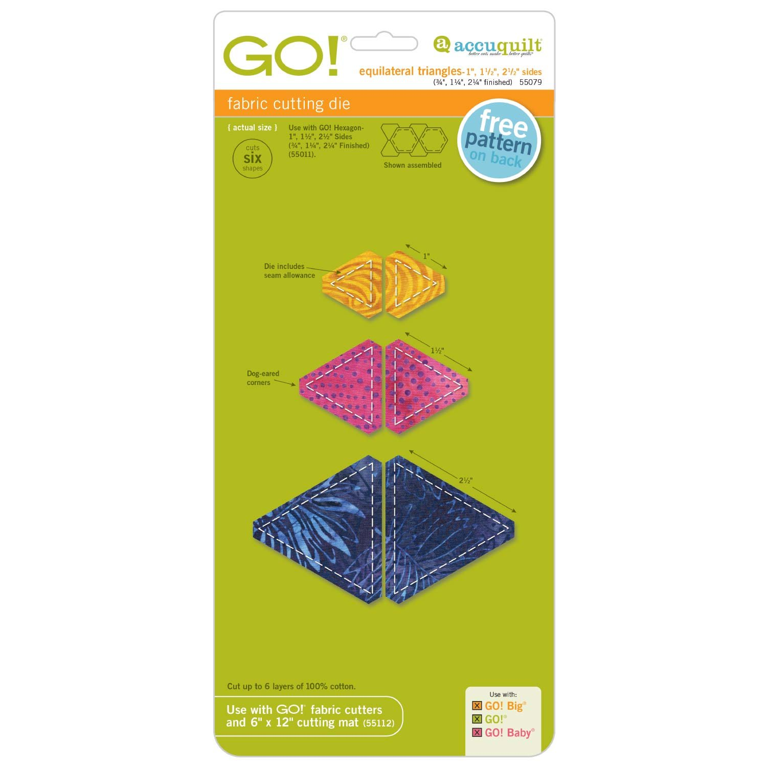GO! Equilateral Triangles (3/4, 1¼ 2¼ Finished Sides)