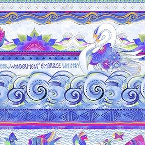 Sea Goddess by Laurel Burch 10 stripe repeats 4 across