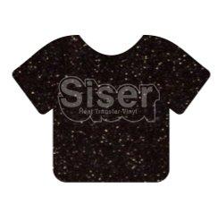 Siser EasyWeed Glitter Black 20 x 12 Sheet