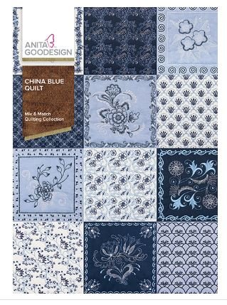 Anita Goodesign China Blue Quilt Quilting Collection