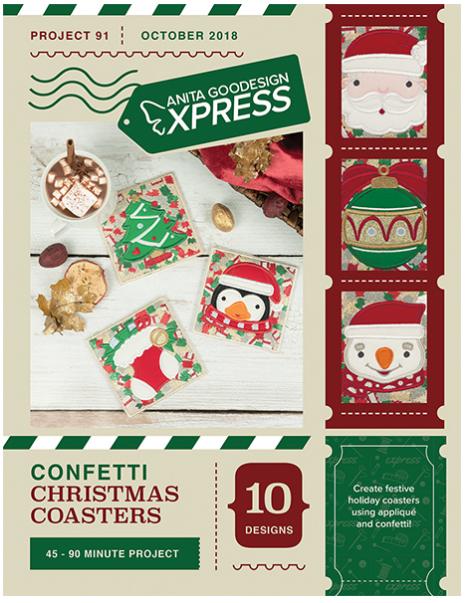 Anita Goodesign Confetti Christmas Coasters