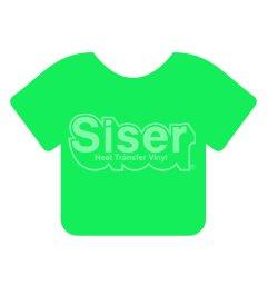 Siser EasyWeed HTV 15 x 12 Sheet [Fluorescent Green]