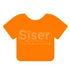 Siser EasyWeed HTV 15 x 12 Sheet [Fluorescent Orange]
