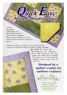Quick-Easy Mitered Binding Tool