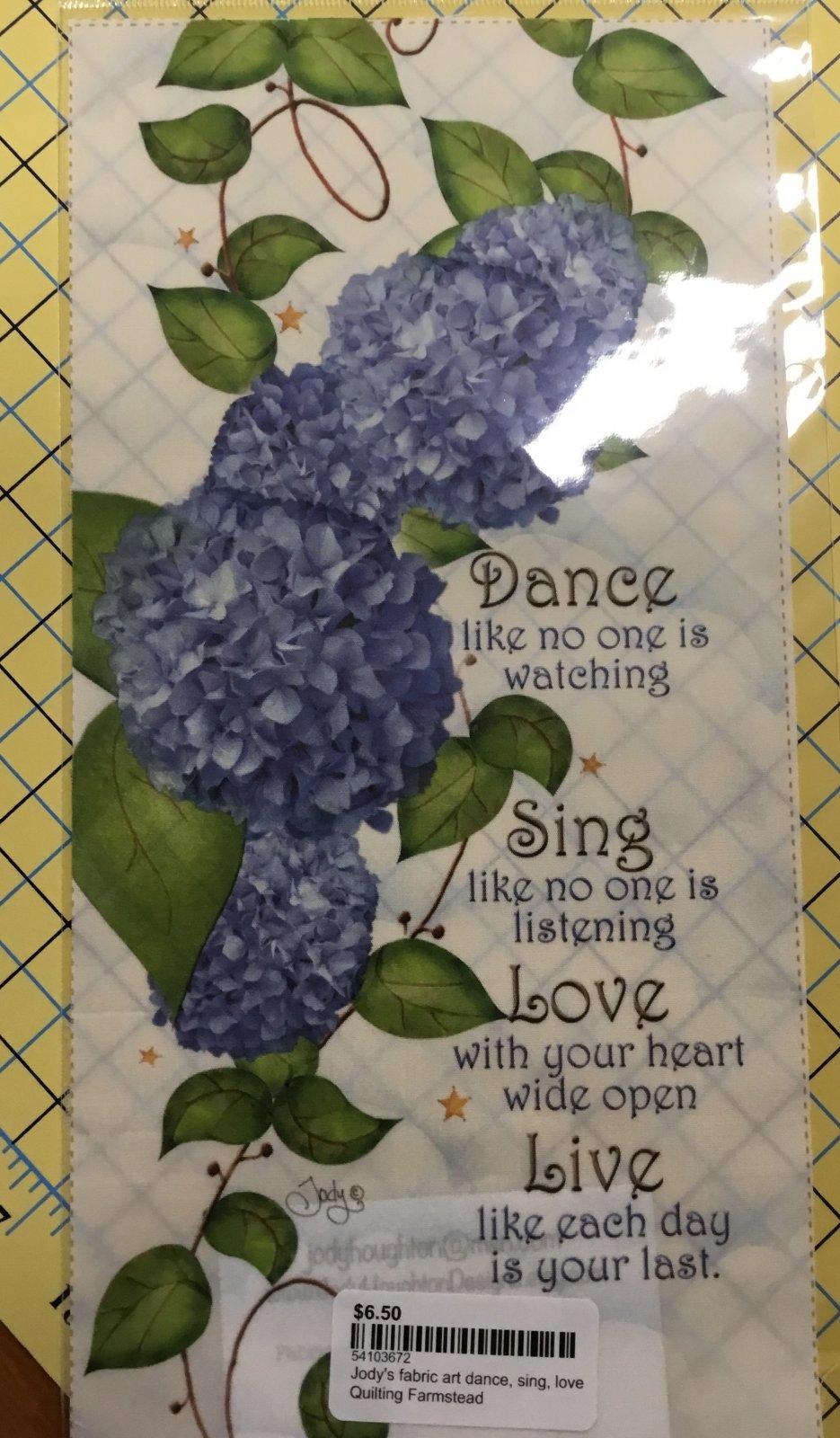 Jody's fabric art dance, sing, love
