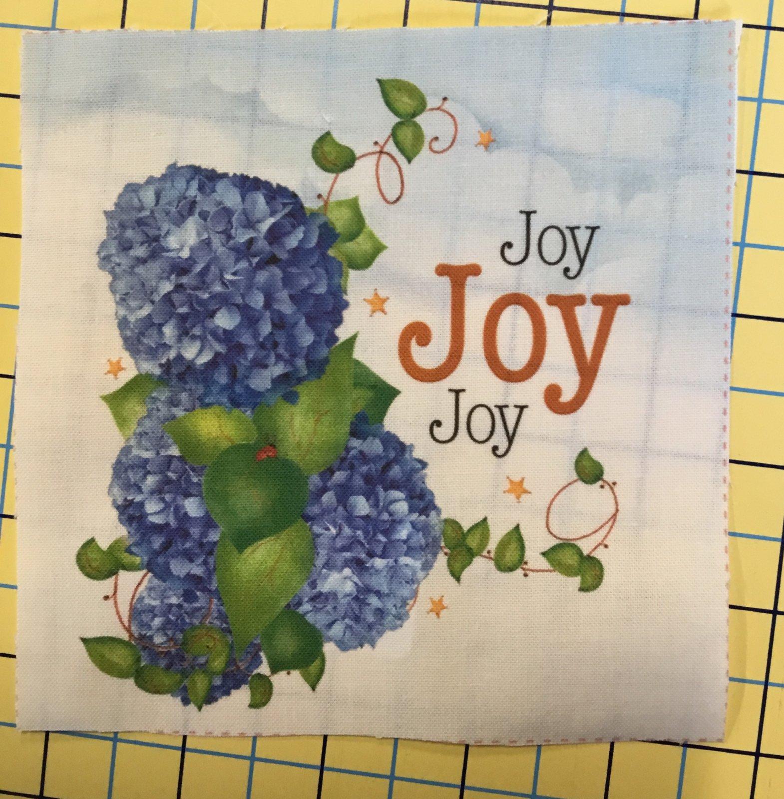 Jody's fabric 5x 5 Joy
