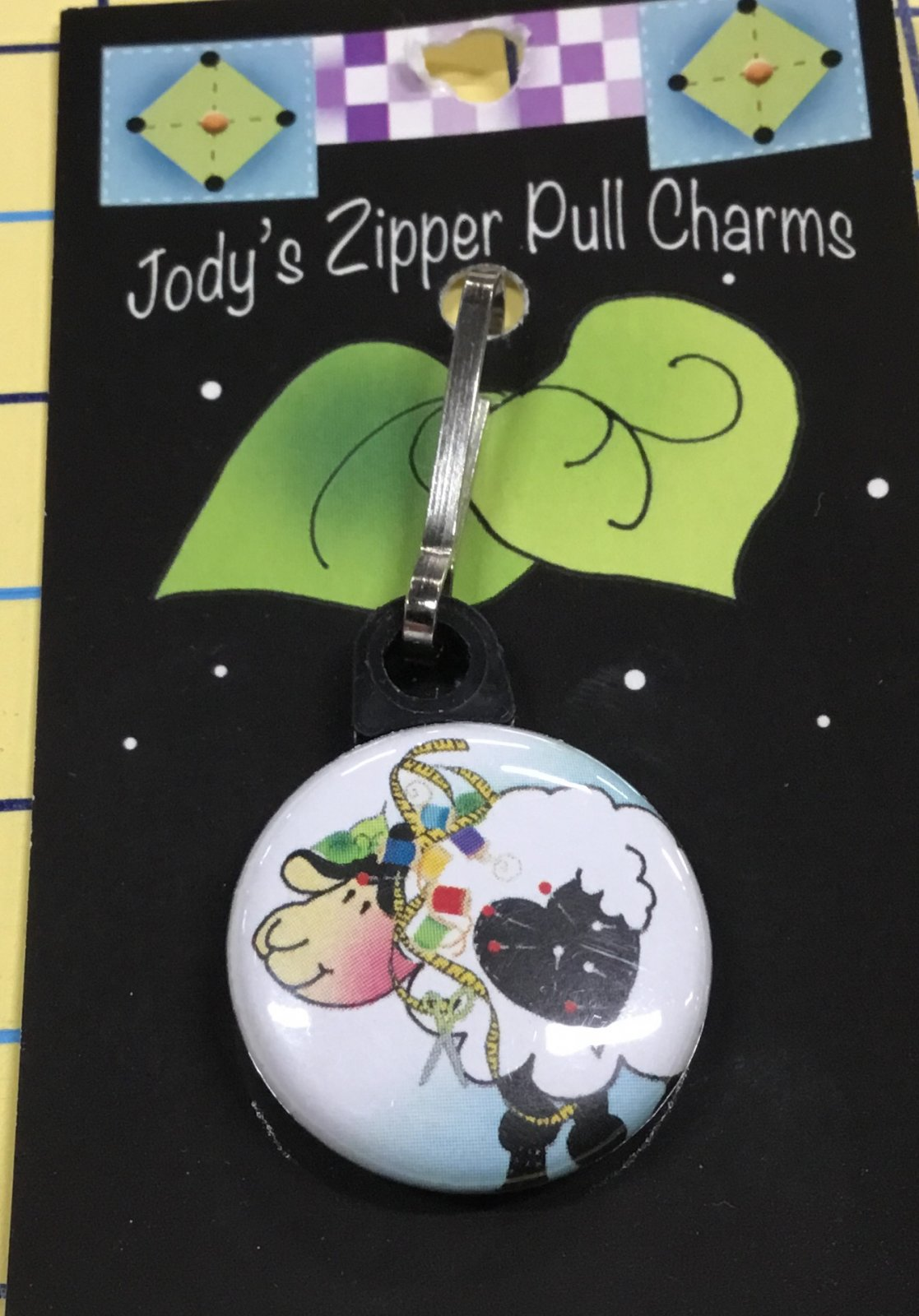 Jody's zipper pull- lamb