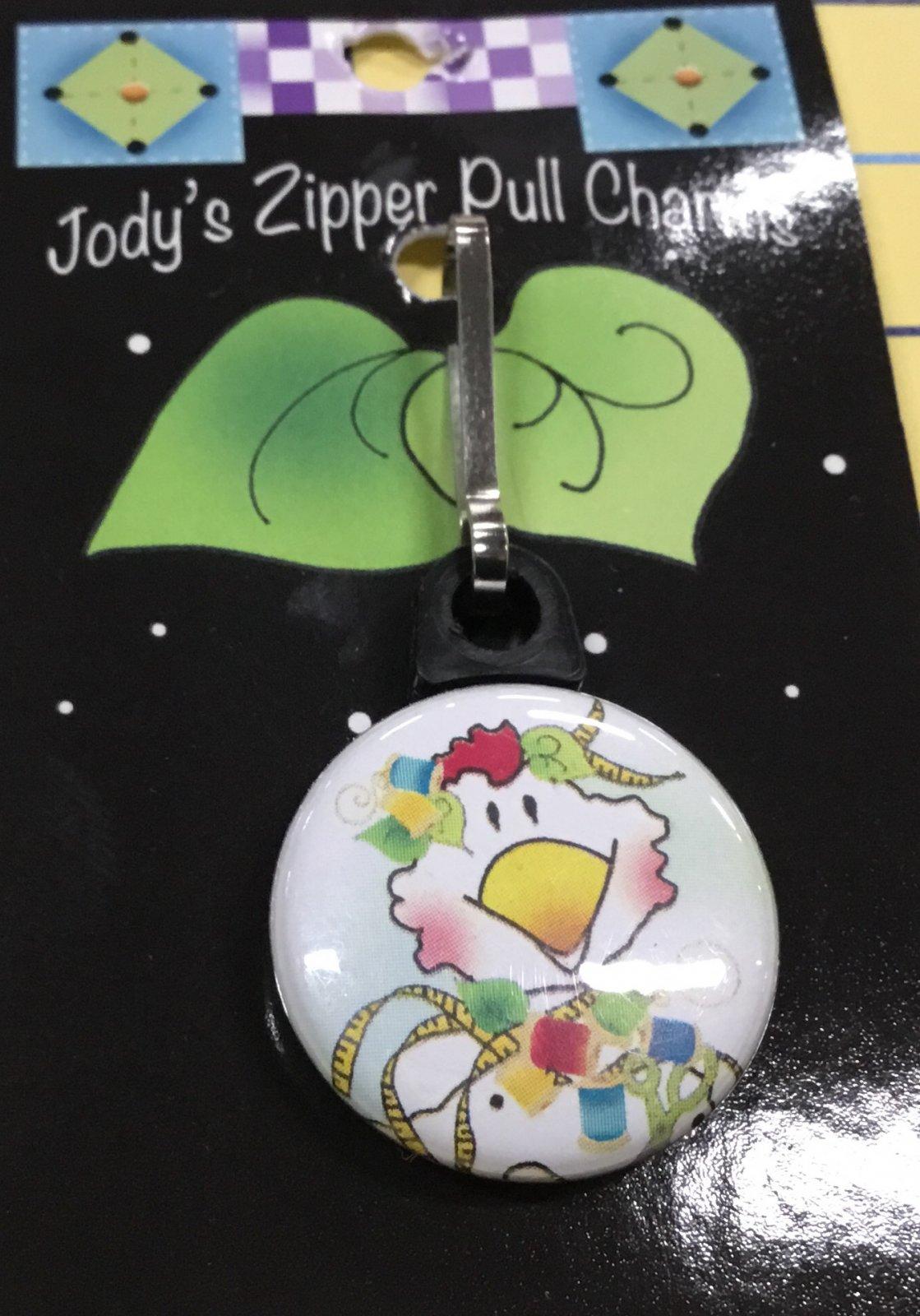 Jody's zipper pull- chicken