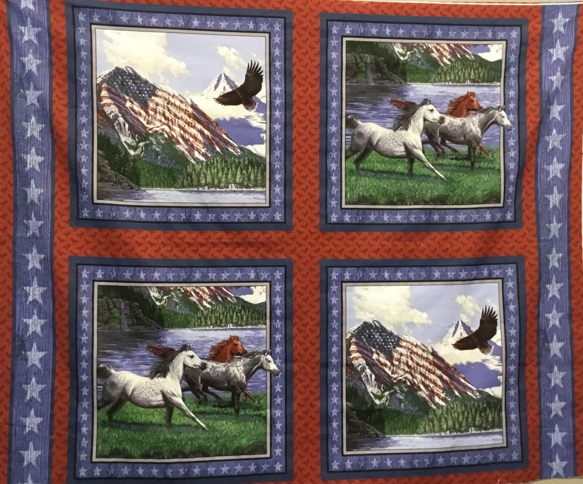 Horse and eagle panel