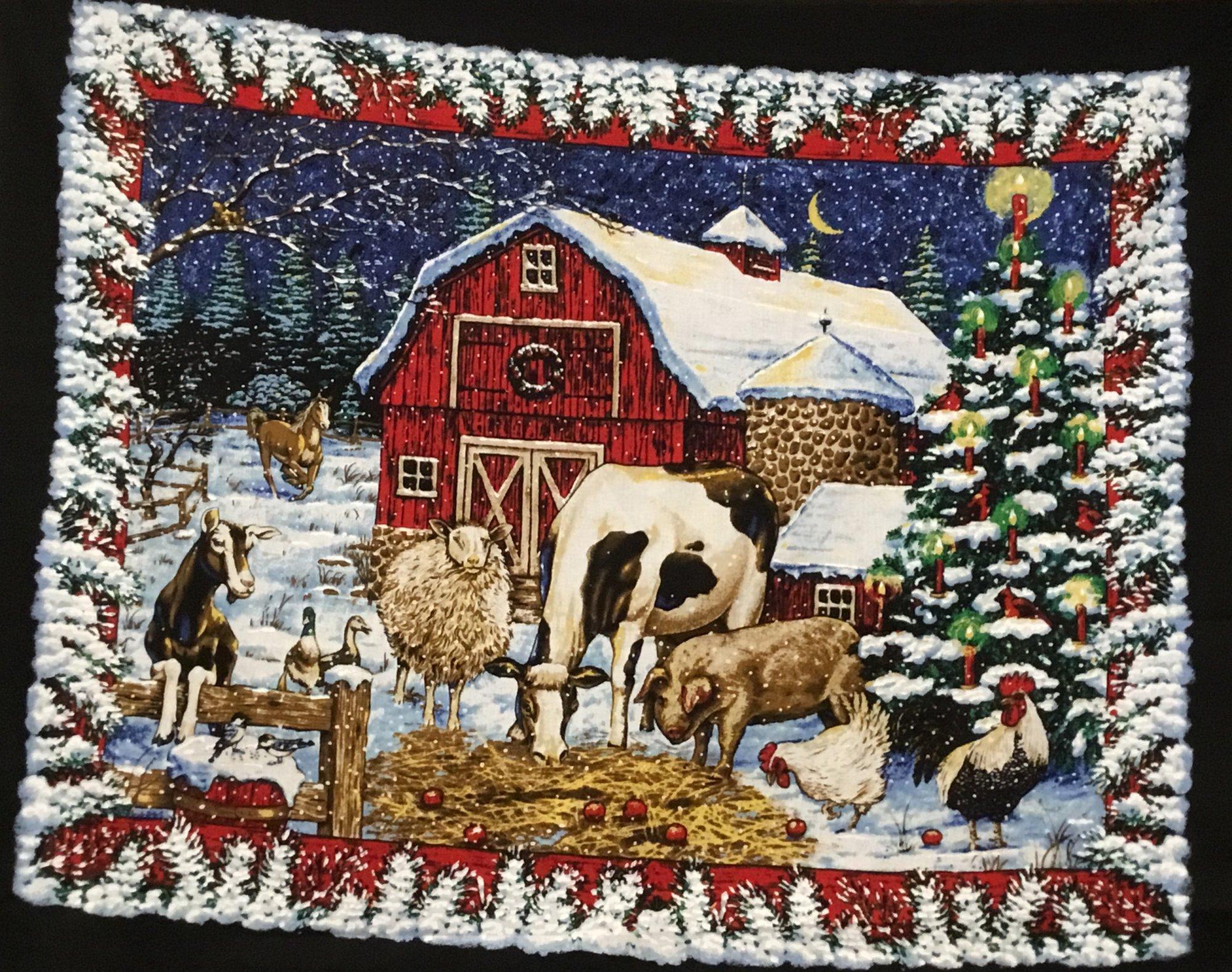 Christmas Eve on the farm panel