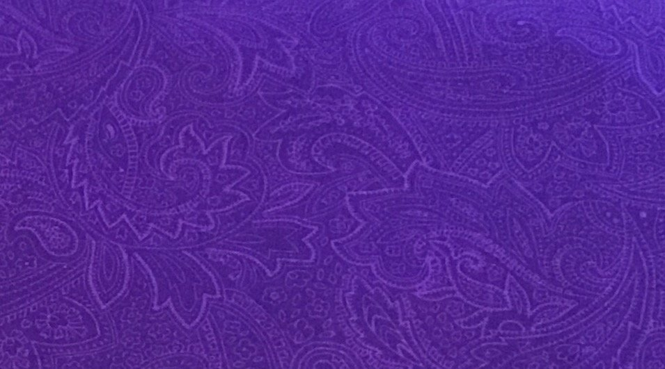 108 Purple paisley cotton backing