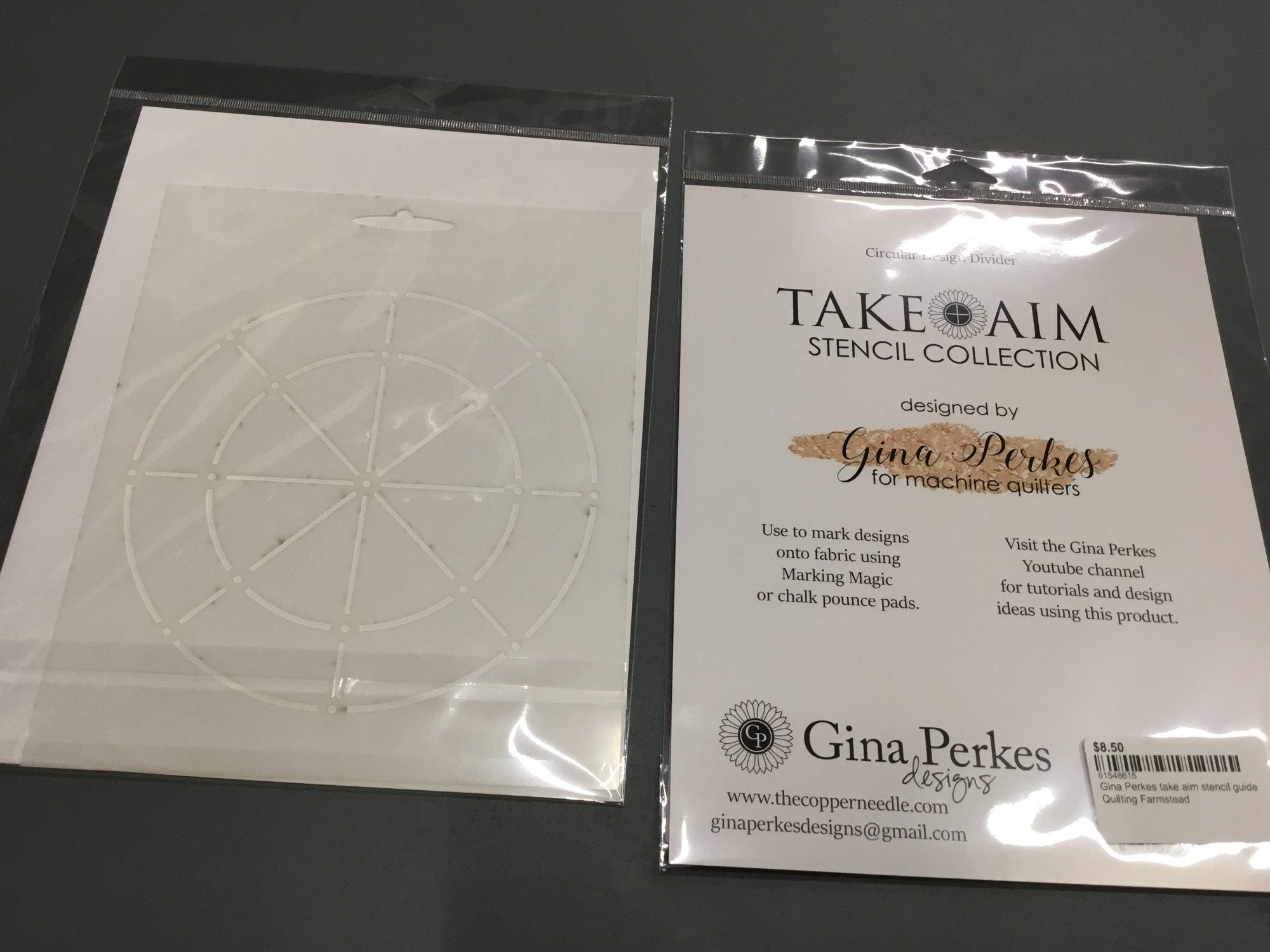 Gina Perkes take aim stencil guide