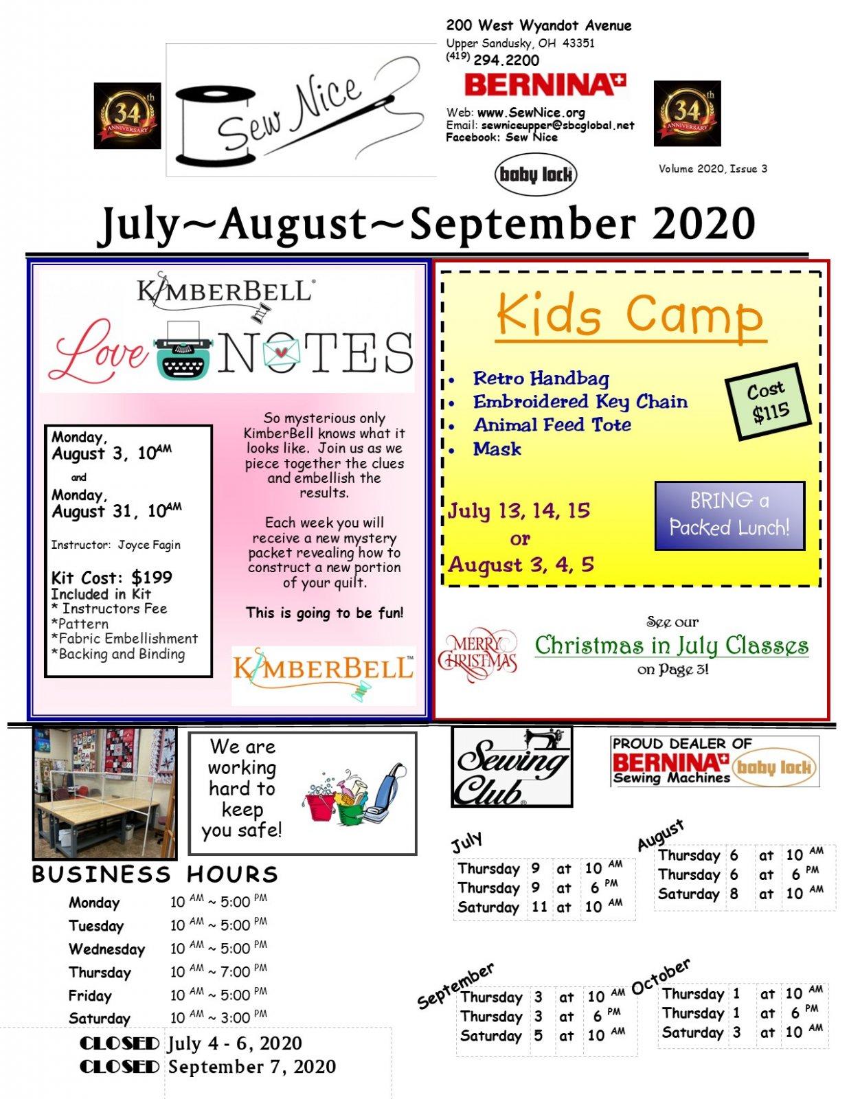 July - August - September 2020