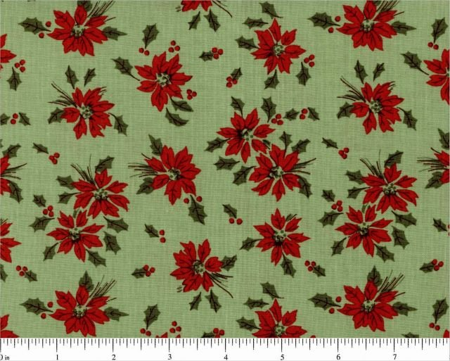 Poinsettia Toss / Light Green