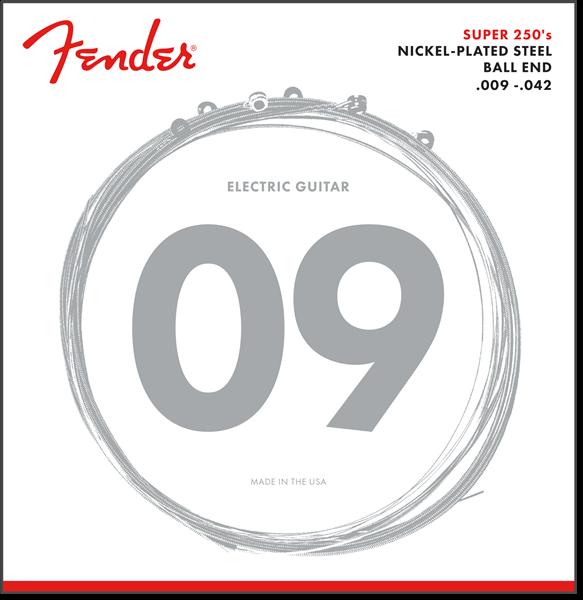 Fender 250L Nickel Plated Steel Electric Guitar Strings, Light, 09-42