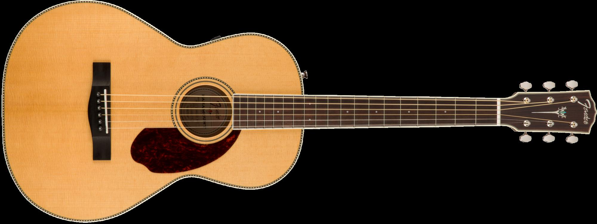 Fender PM-2 Standard, Parlor Acoustic Electric Guitar, Natural Finish