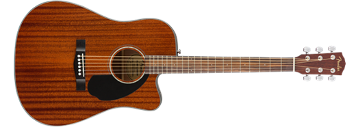 Fender CD-60SCE Cutaway Acoustic-Electric, All Mahogany