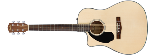 Fender CD-60SCE Cutaway Acoustic-Electric, Left-Handed