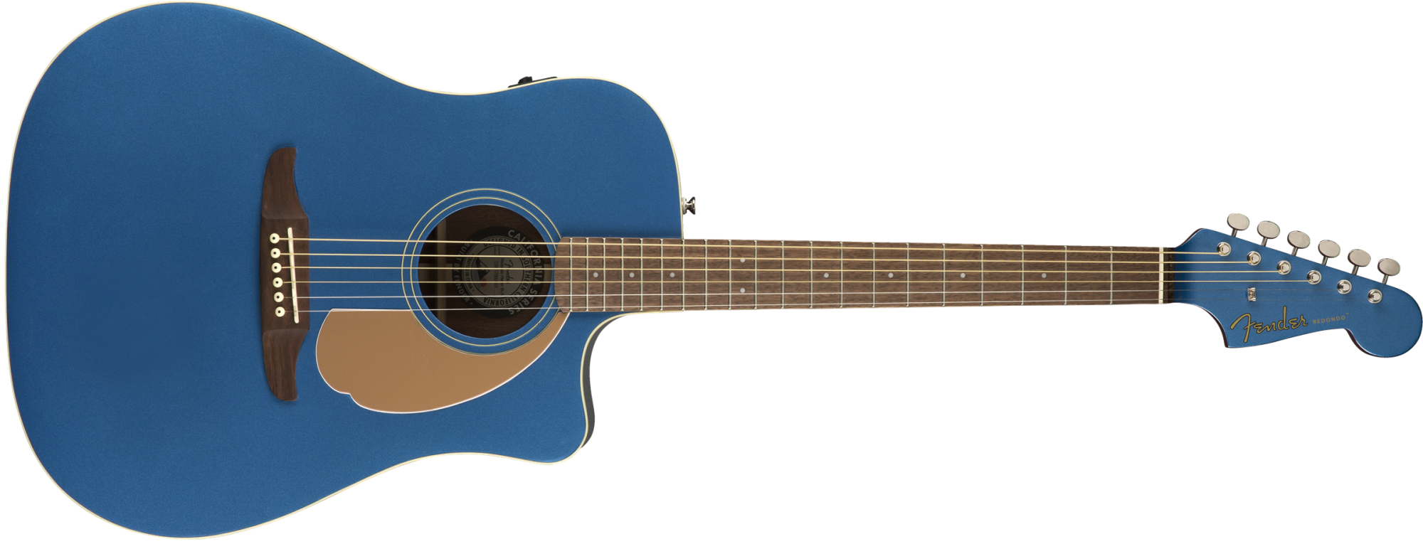 Fender Redondo Player Acoustic-Electric Guitar, Belmont Blue