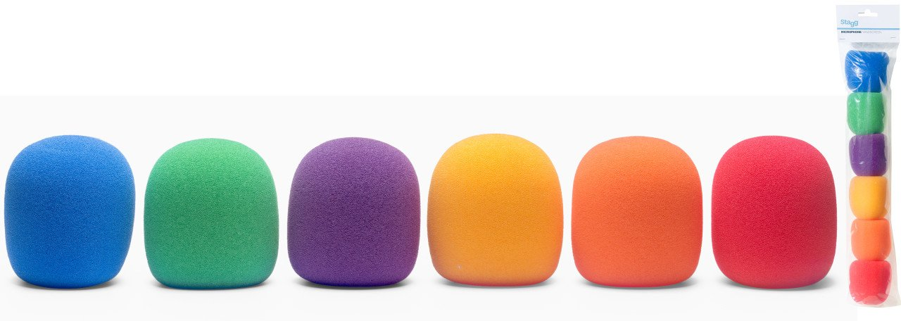 Stagg 6 COLOR WINDSCREENS-O.D 20mm