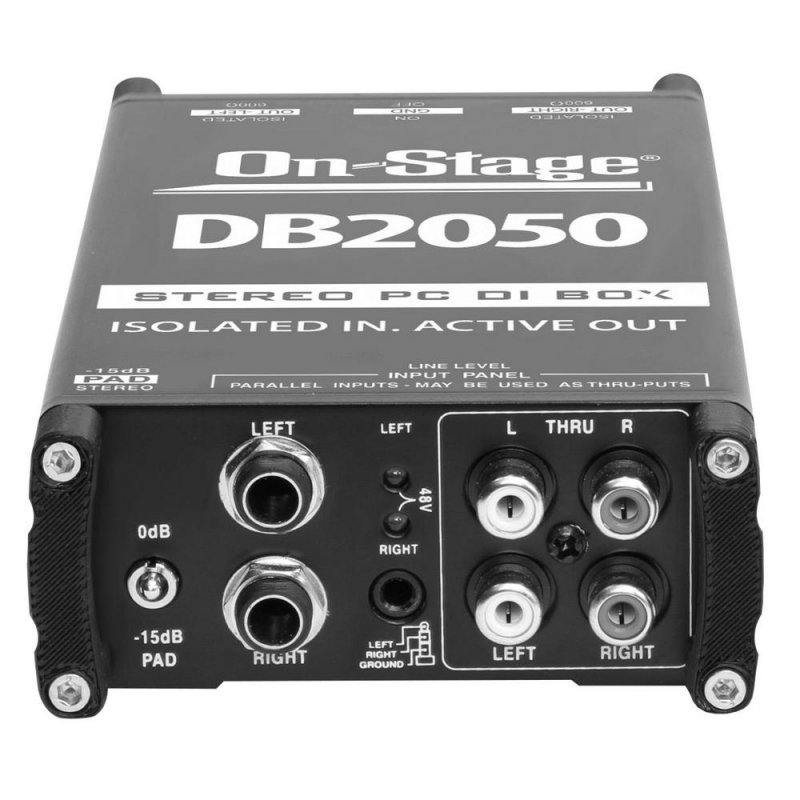 On-Stage DB2050 STEREO PC DI BOX