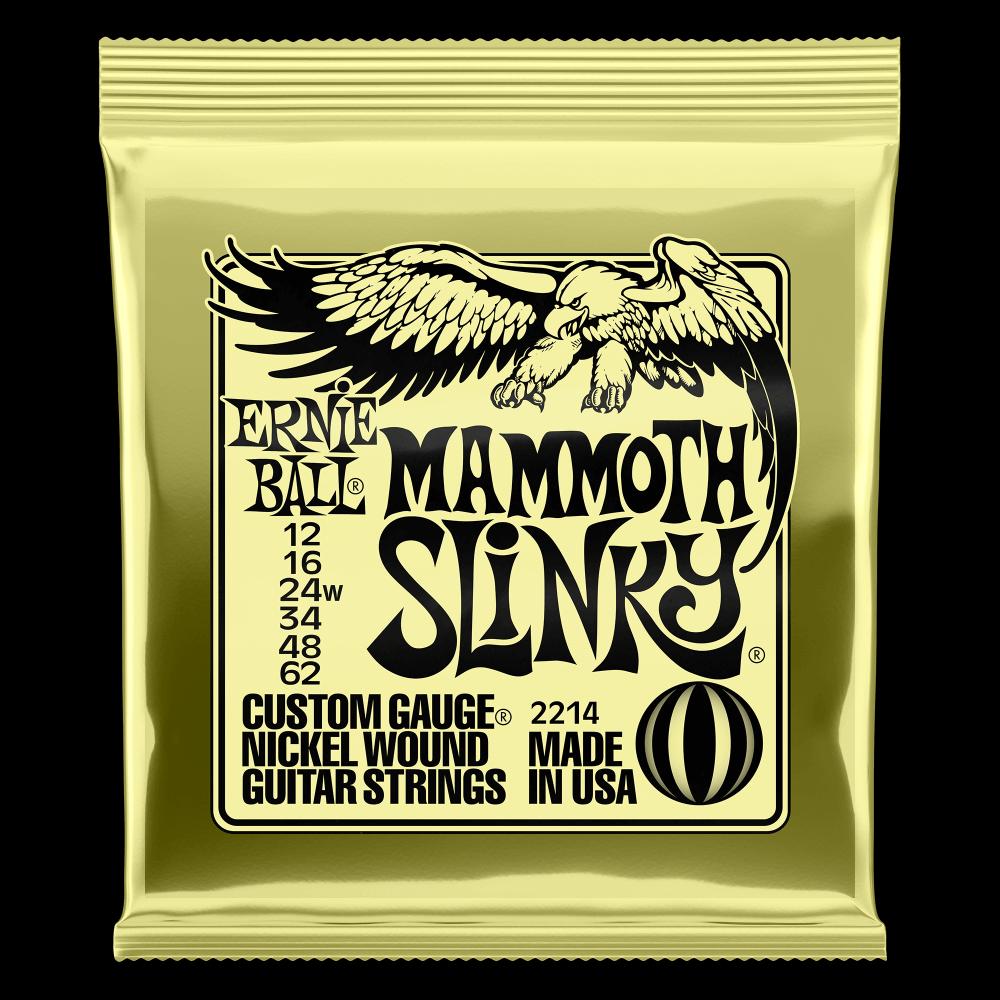 Ernie Ball 2214 Mammoth Slinky Nickel Wound Electric Guitar Strings, 12-62
