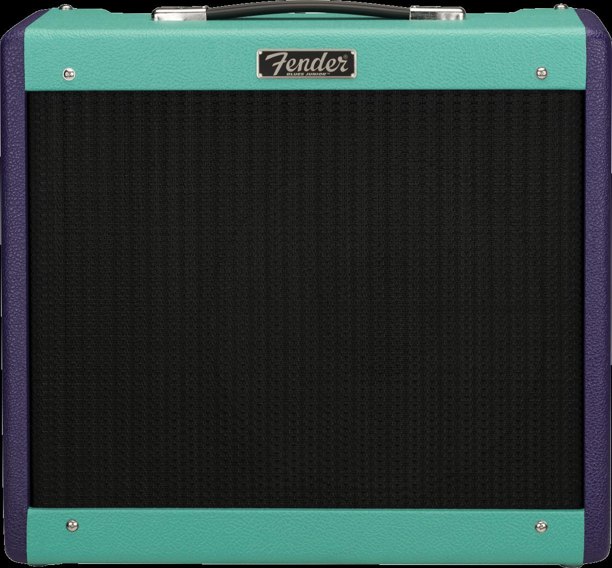Fender LIMITED EDITION BLUES JUNIOR™ IV, EMINENCE® CANNABIS REX™, TWO-TONE PURPLE/SEAFOAM