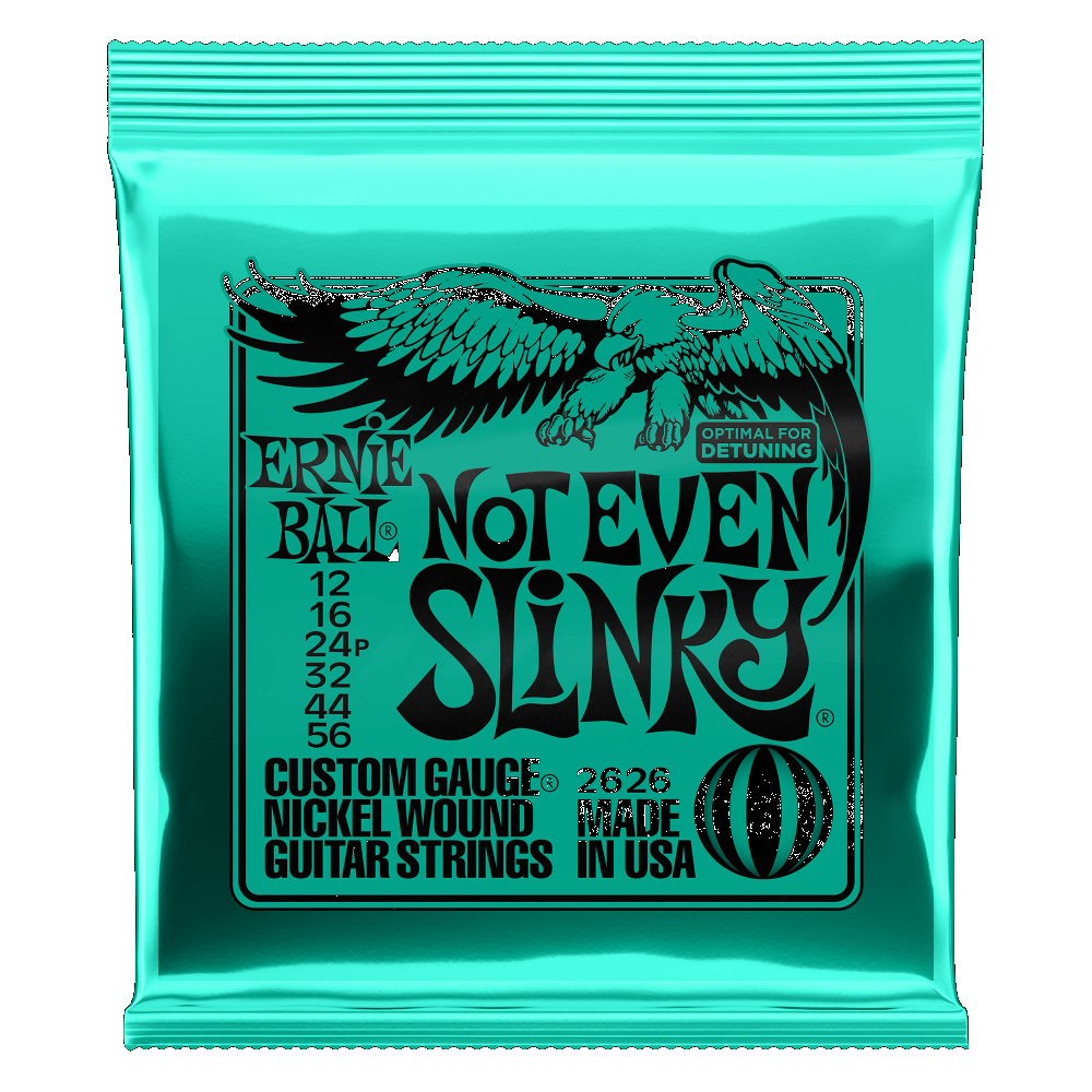 Ernie Ball 2626 Not Even Slinky Nickel Wound Electric Guitar Strings, (12-56)