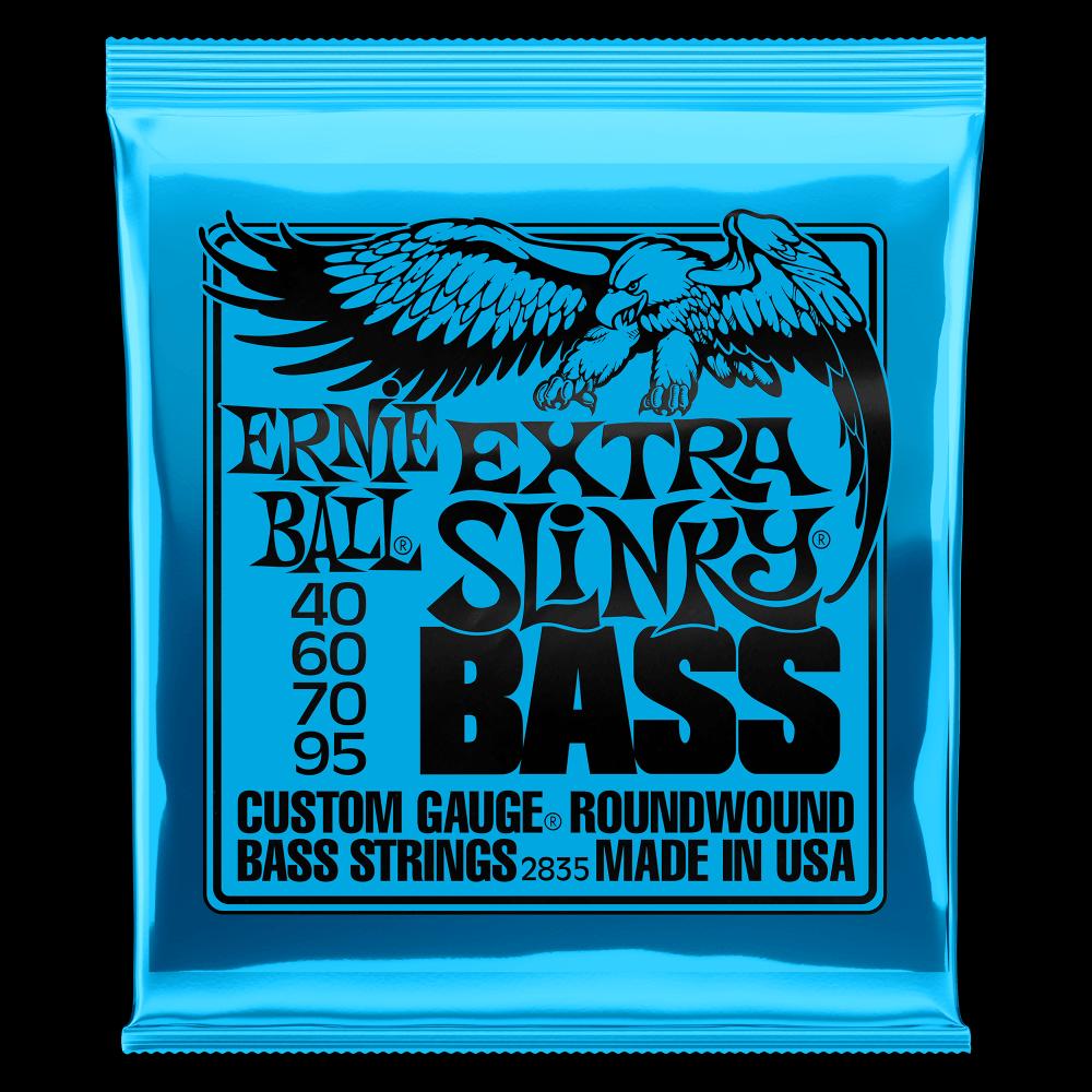 Ernie Ball 2835 Nickel Wound Electric Bass Strings, Extra Slinky (40 - 95)