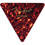 Fender 355 Shape (Triangle Picks), Shell, Heavy, 12 Count