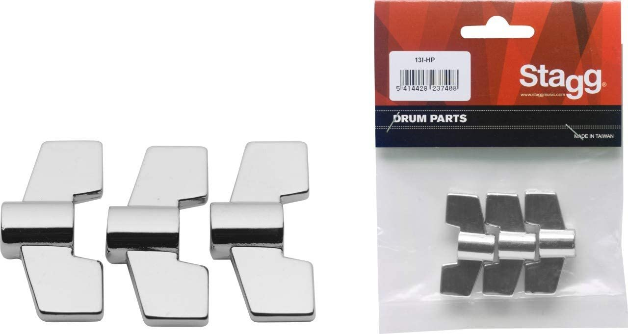 Stagg Drum Parts Generic M8 Wing Nuts(3 Pieces)