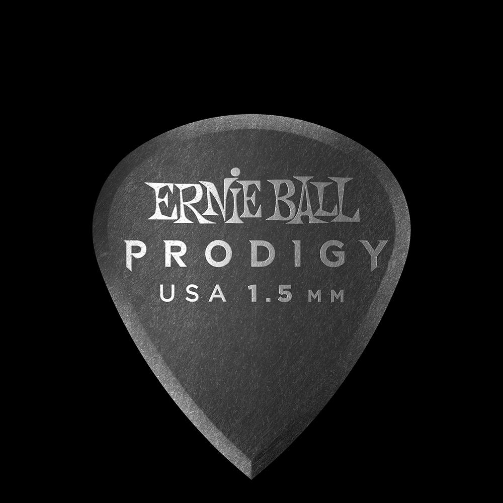 Ernie Ball 9200 Prodigy Picks Mini 1.5mm, Black, 6-Pack