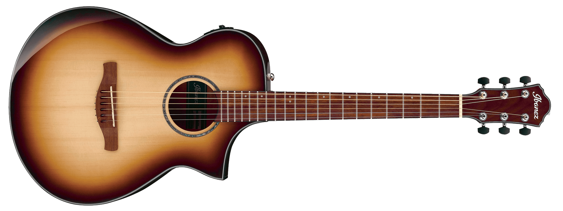 Ibanez AEWC300NNB Cutaway Acoustic Electric, Natural Browned Burst
