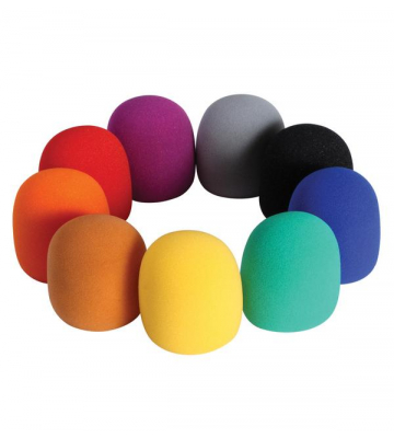On-Stage ASWS58-C9 9-Color Windscreen Pack