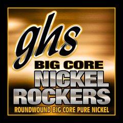 GHS BCCL Big Core Nickel Rockers, Pure Nickel Electric Guitar Strings, Custom Light,  .0095-48