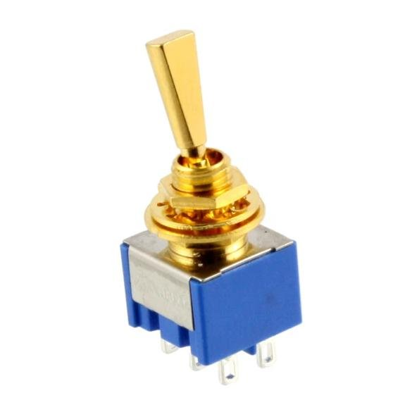 Allparts Mini Switch Gold (On Off On)