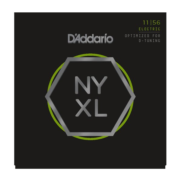 D'Addario NYXL1156 Nickel Wound Electric Guitar Strings, Medium Top / Extra-Heavy Bottom, 11-56