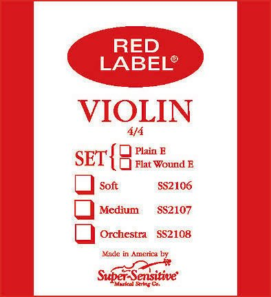 Red Label 2107 1/2 violin string set