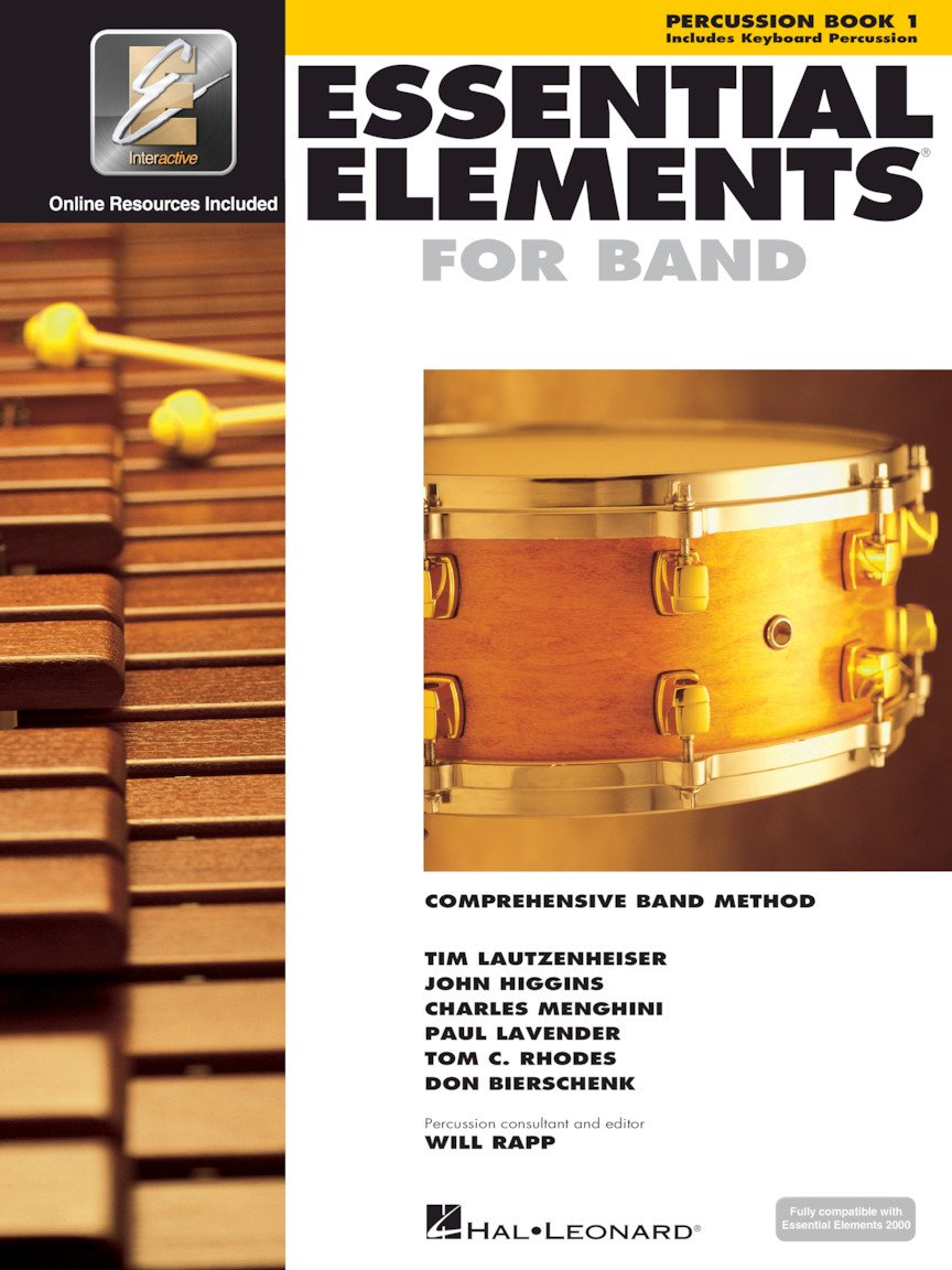 Hal Leonard Essential Elements for Band- Percussion/Keyboard Book 1 with EEi