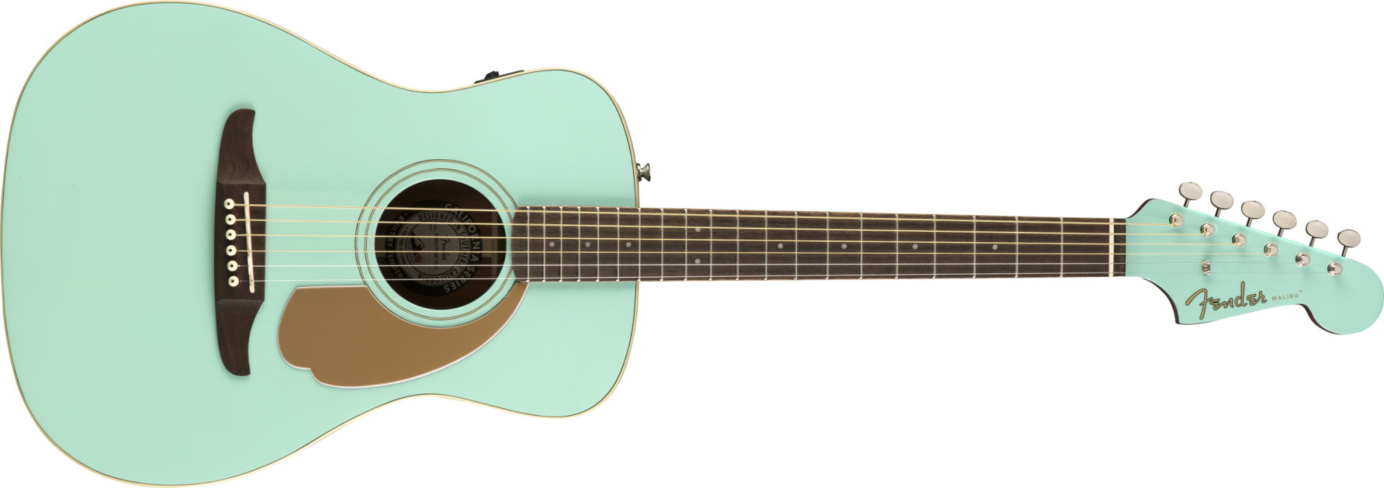Fender Malibu Player, Walnut Fingerboard, Aqua Splash
