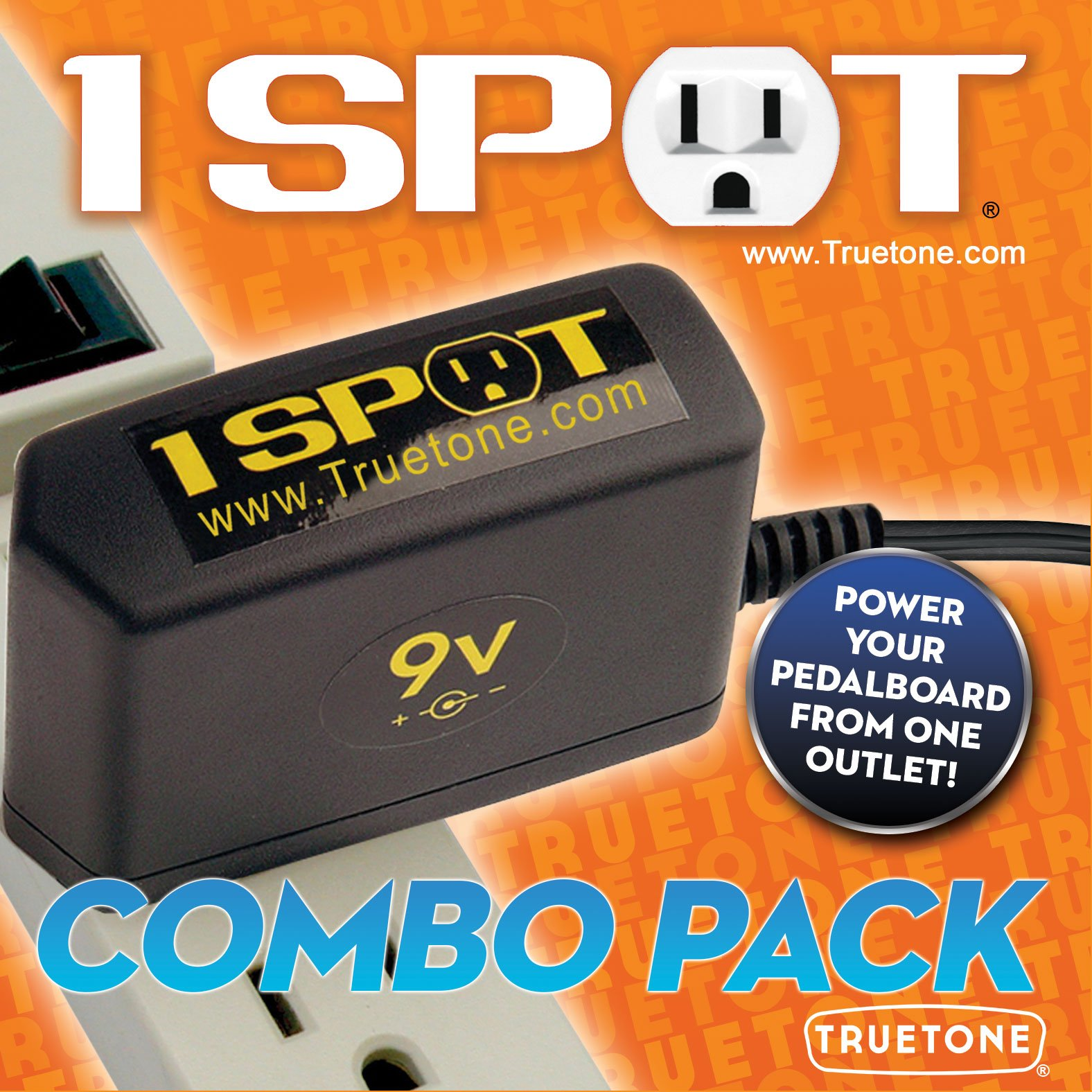 9V Power Supply 1 Spot ComboPak
