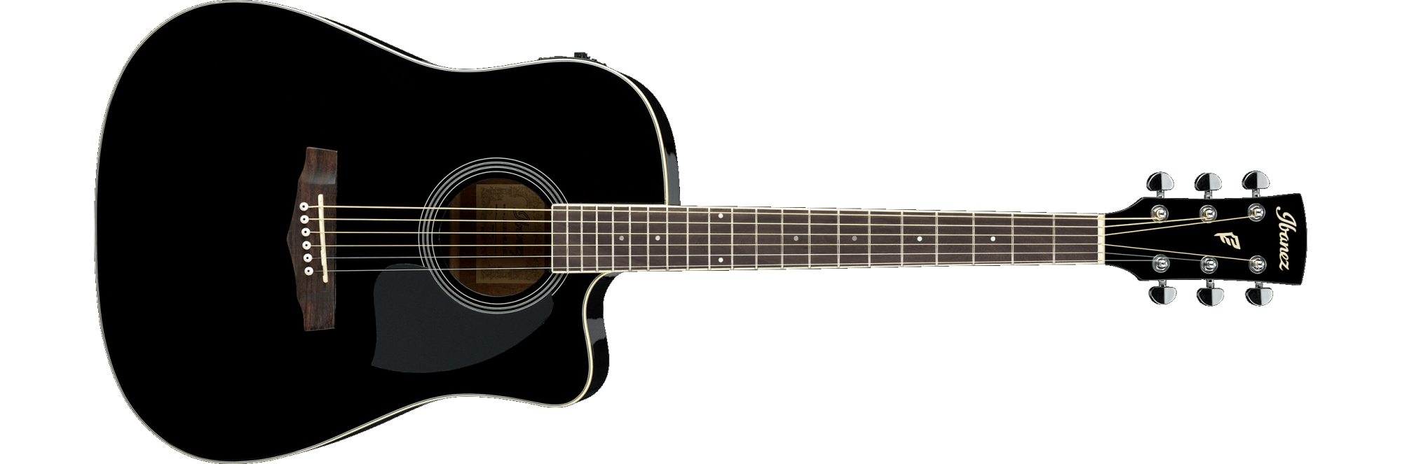 Ibanez PF15ECEBK PF SERIES Acoustic-Electric Guitar